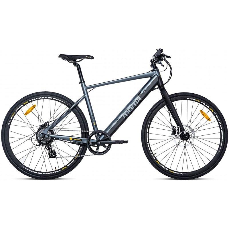 Moma Bikes E-Road 28 Pro Bicicleta Eléctrica Negra