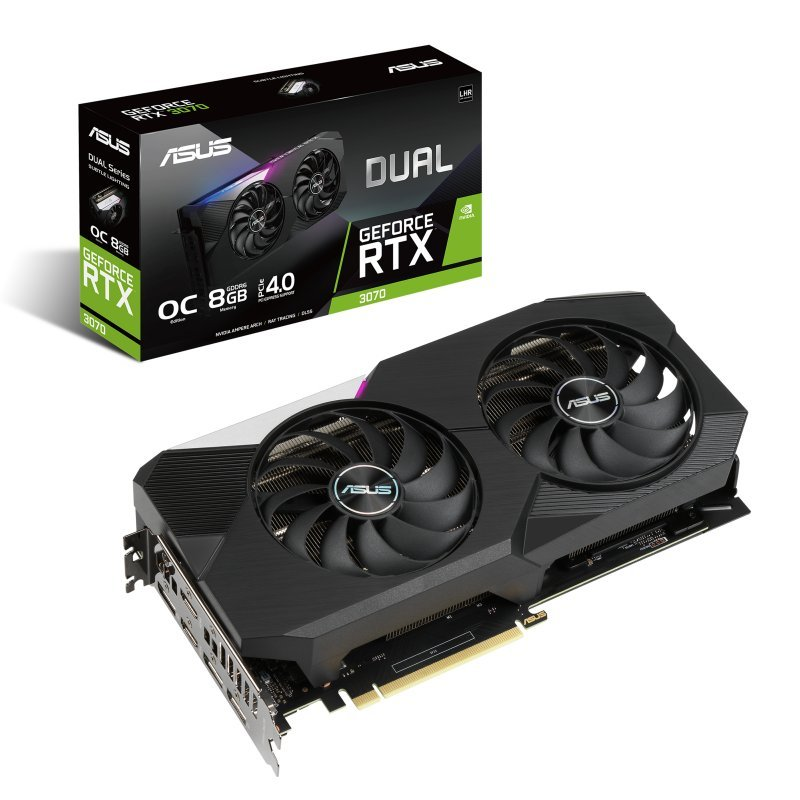 Asus GeForce RTX 3070 Dual OC V2 LHR 8GB GDDR6