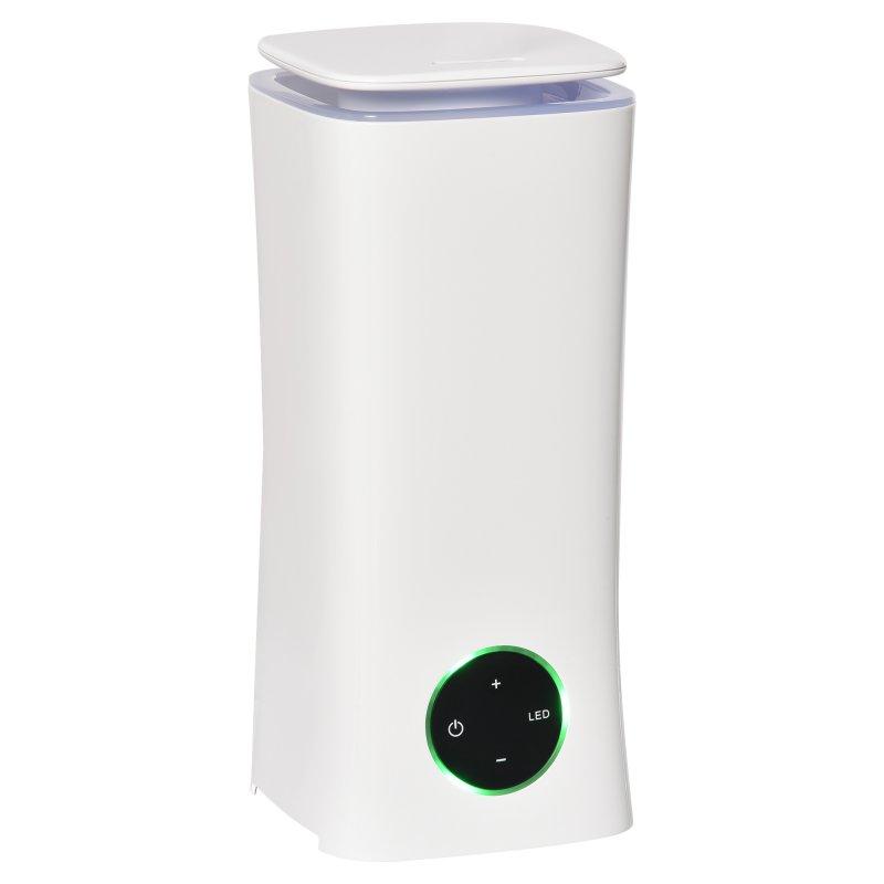 Homcom Humidificador Ultrasónico/Difusor De Aromas 2L 28W Blanco