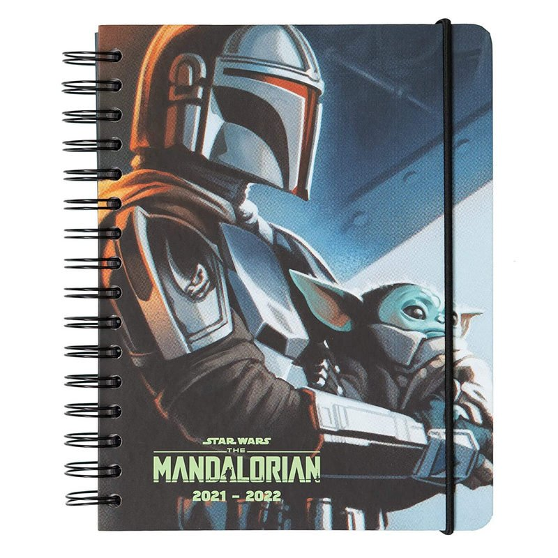 Erik Agenda Escolar 2021/2022 A5 Semana Vista Star Wars The Mandalorian Kalenda