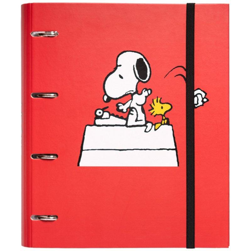 Erik Carpeta Troquelada Premium 4 Anillas Snoopy