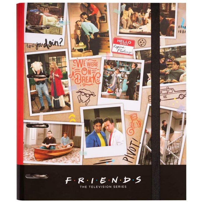 Erik Carpeta Troquelada Premium 4 Anillas Friends