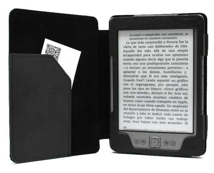 Funda polipiel para kindle negra pccomponentes - Kindle funda ...