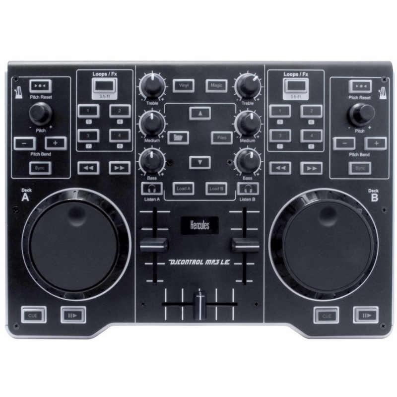 Hercules dj control mp3 le pccomponentes for Mesa de mezclas dj