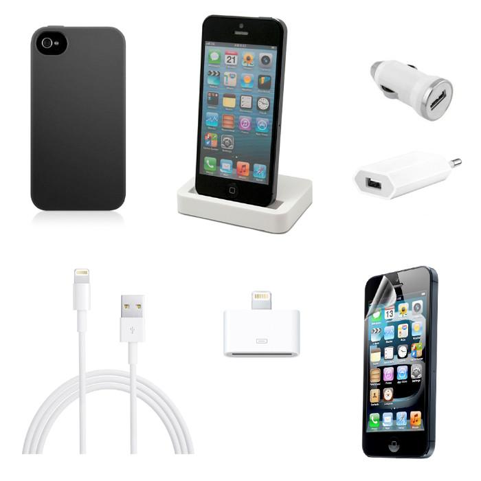 pack accesorios esenciales para iphone 5 5s se pccomponentes