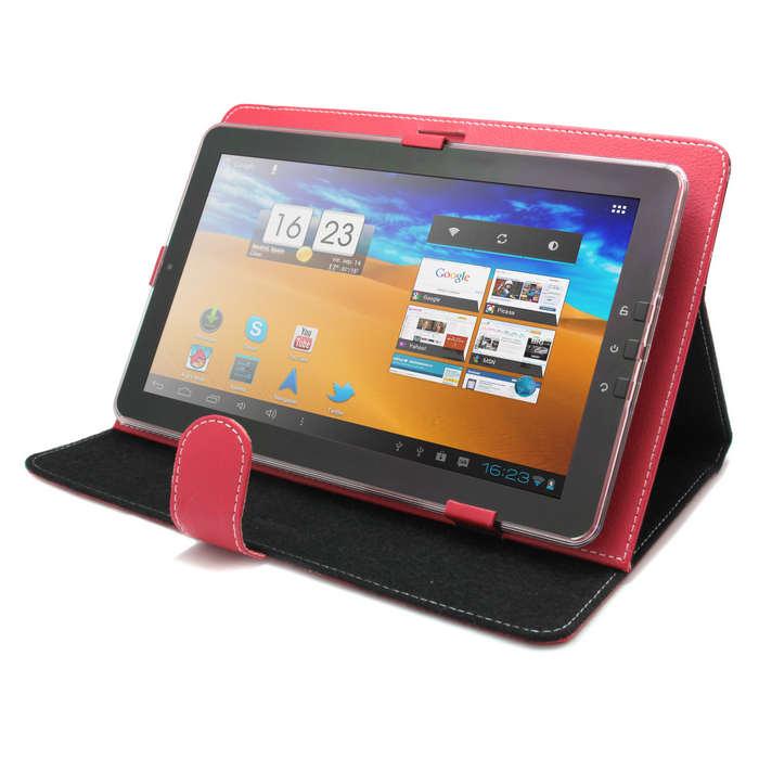 Funda universal roja para tablet pc 10 con soporte pccomponentes - Funda universal tablet 10 1 ...