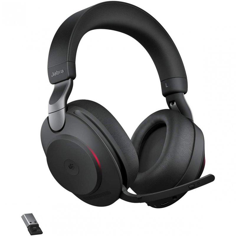 Jabra Evolve2 85 MS Teams Auriculares Bluetooth Con Soporte De Carga USB-A Negro
