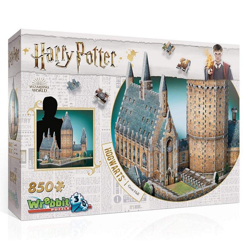 Wrebbit Puzzle 3D Harry Potter Gran Salón 850 Piezas