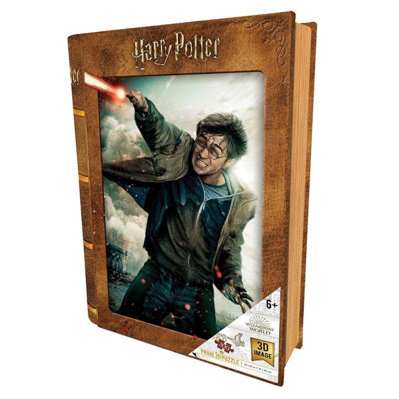 Prime 3D Puzzle Libro Lenticular Harry Potter Batalla 300 Piezas