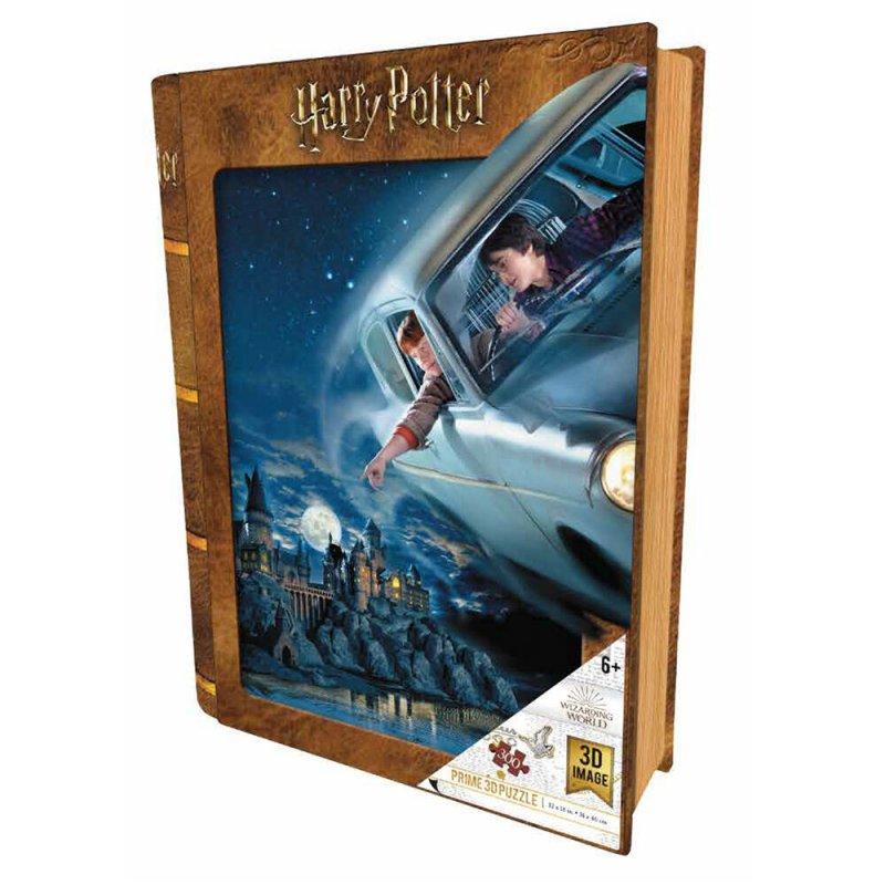 Prime 3D Puzzle Libro Lenticular Harry Potter Y Ron En Ford Anglia 300 Piezas