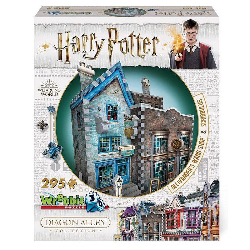 Wrebbit Puzzle 3D Harry Potter Tienda De Ollivander 295 Piezas