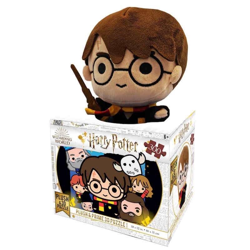 Prime 3D Puzzle Lenticular Harry Potter Con Peluche 300 Piezas