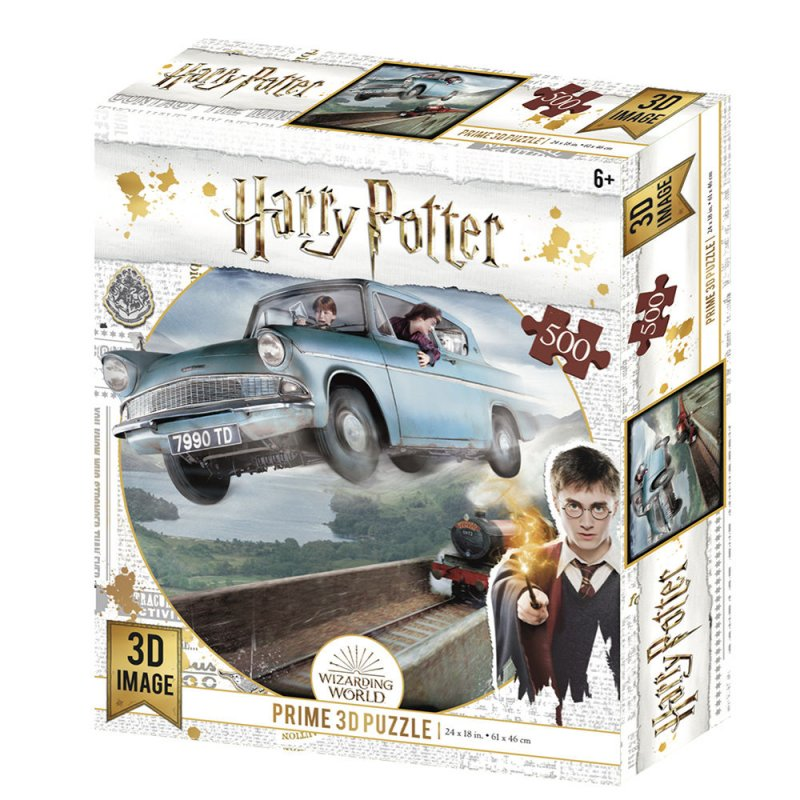 Prime 3D Puzzle Lenticular Harry Potter Ford Anglia 500 Piezas