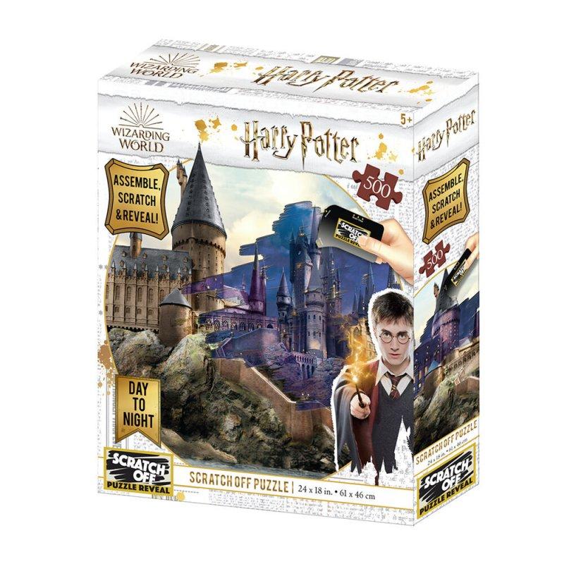 Prime 3D Puzzle Para Rascar Hogwarts Día/Noche 500 Piezas