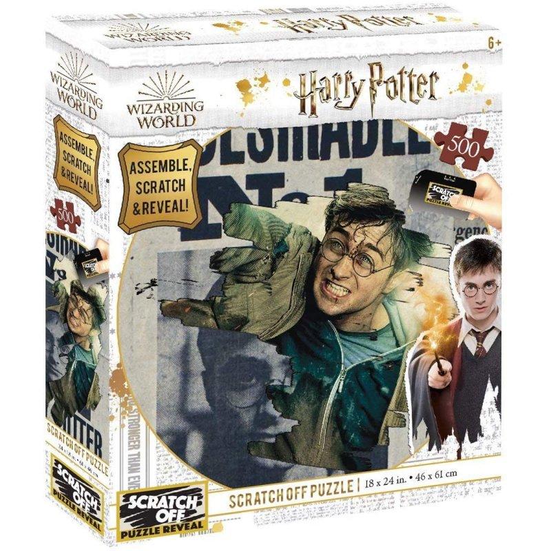 Prime 3D Puzzle Para Rascar Harry Potter Wanted 500 Piezas