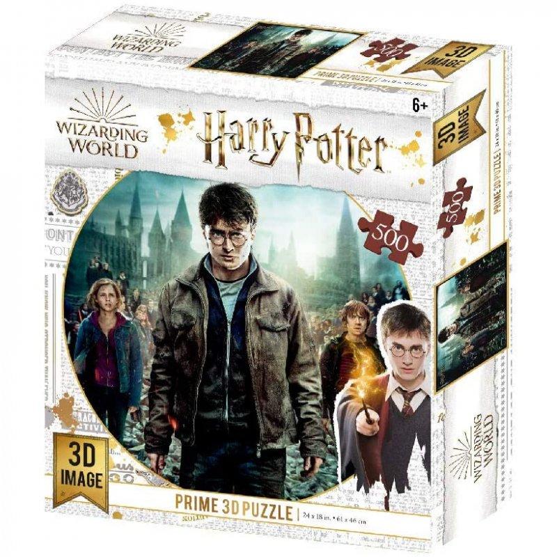 Prime 3D Puzzle Lenticular Harry Hermione Y Ron 500 Piezas
