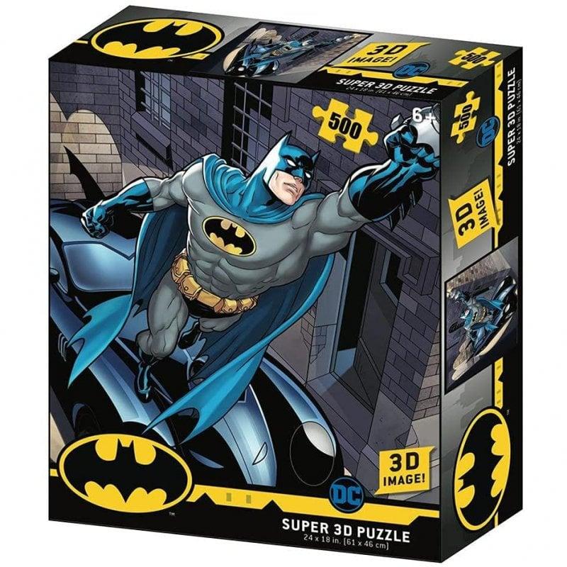 Prime 3D Puzzle Lenticular DC Comics Batmobile 500 Piezas