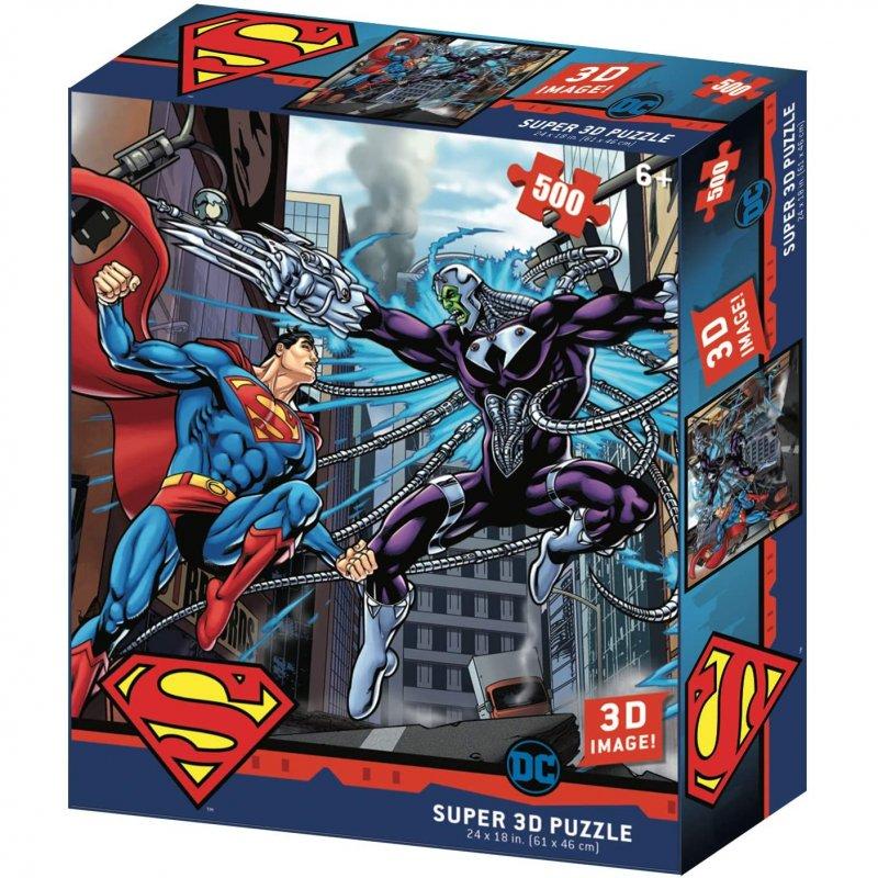 Prime 3D Puzzle Lenticular DC Comics Superman Vs. Brainiac 500 Piezas