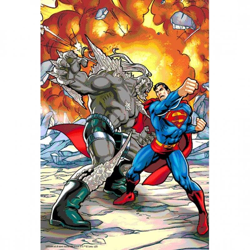 Prime 3D Puzzle Lenticular DC Comics Superman Vs Doomsday 300 Piezas