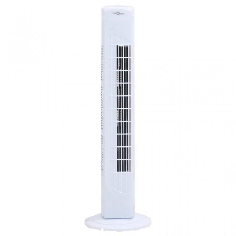 VidaXL Ventilador De Torre Con Temporizador 45W Blanco