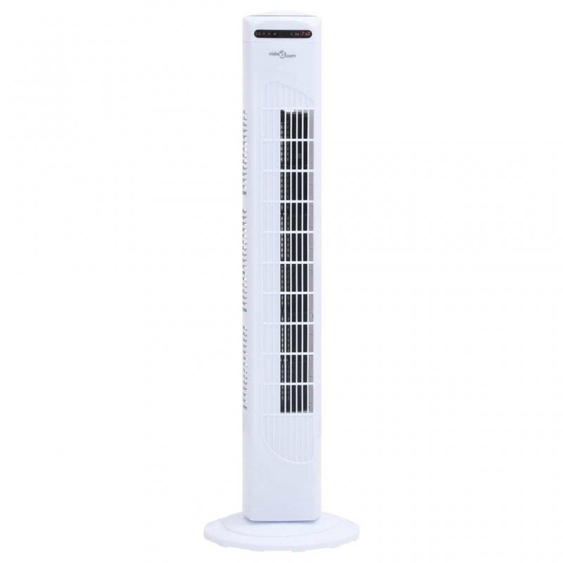 VidaXL Ventilador De Torre 45W Blanco