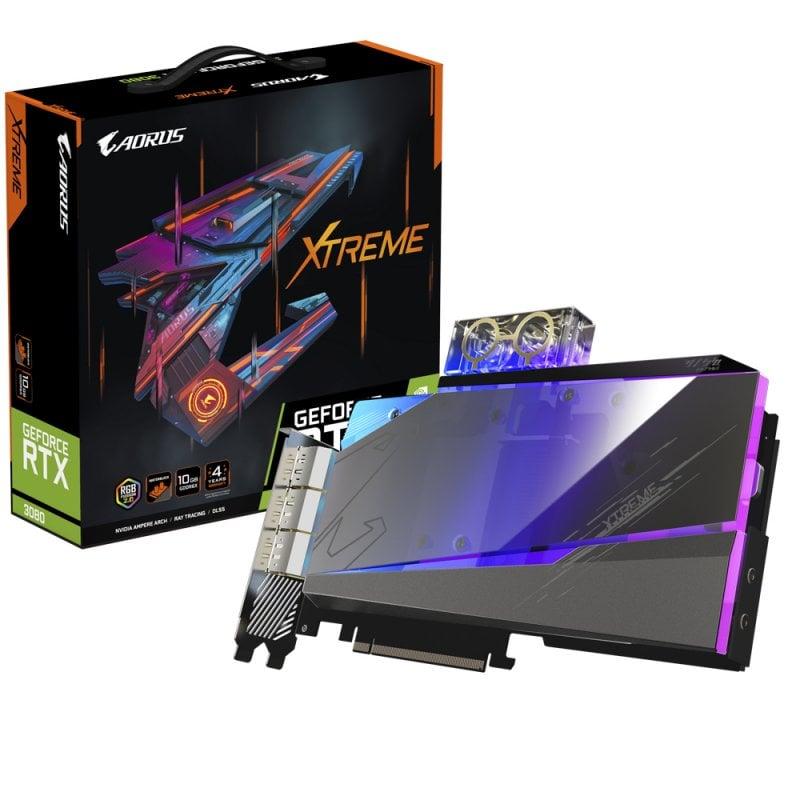 Gigabyte AORUS GeForce RTX 3080 XTREME WaterForce WB V2 10GB GDDR6X