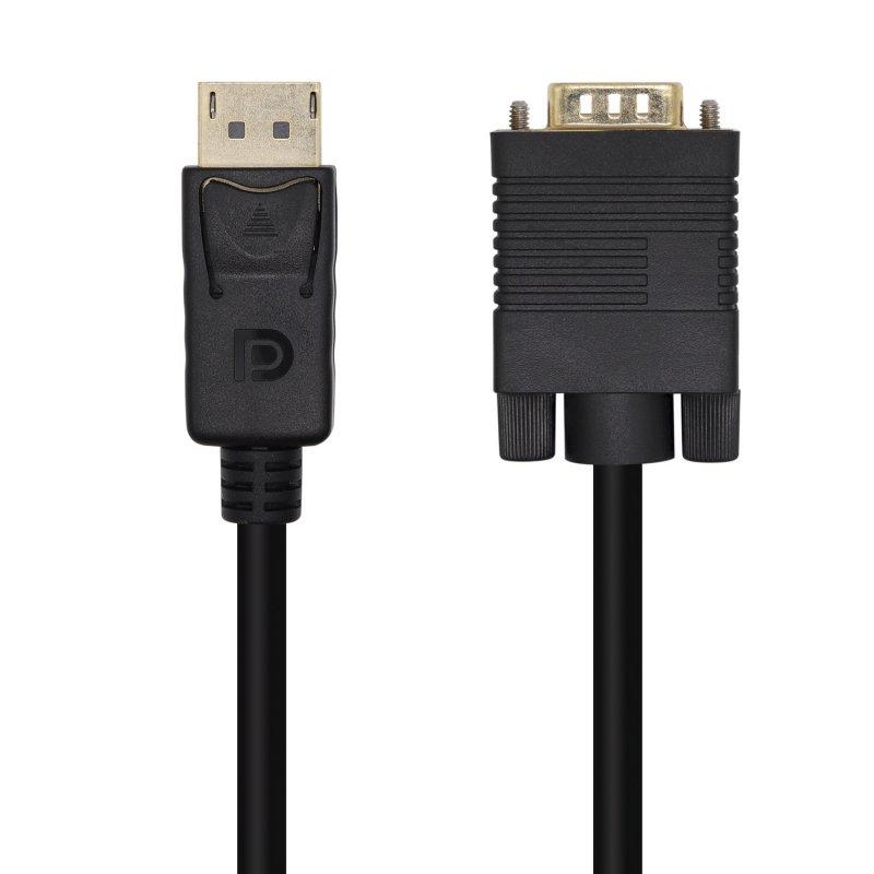 Aisens Cable Conversor DisplayPort A VGA 3m Negro