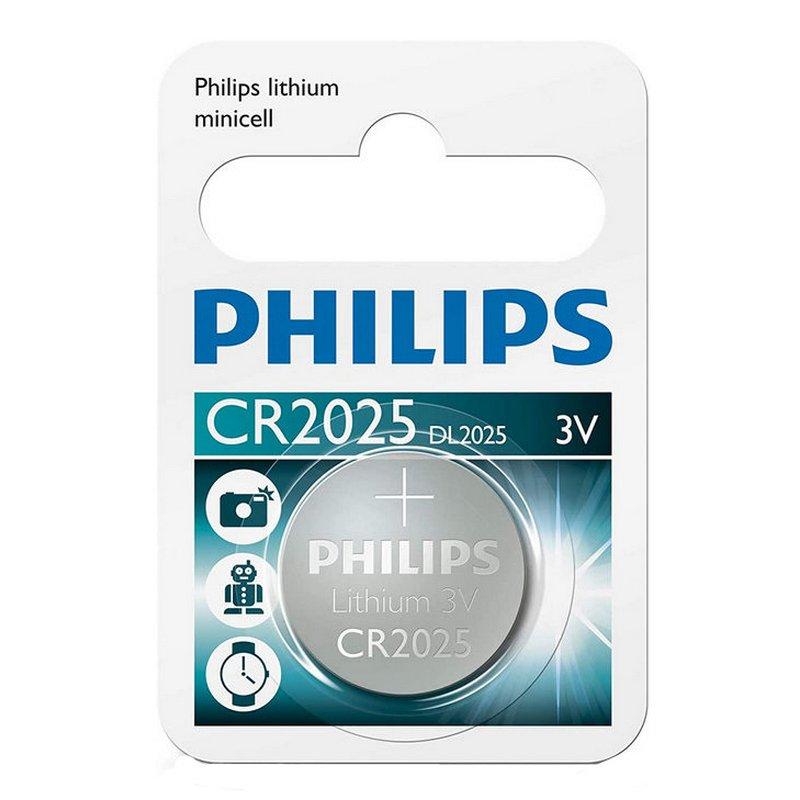 Philips Pila De Botón De Litio CR2025 3V