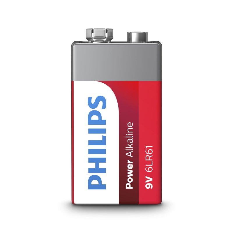 Philips Pila Alcalina 6LR61 9V