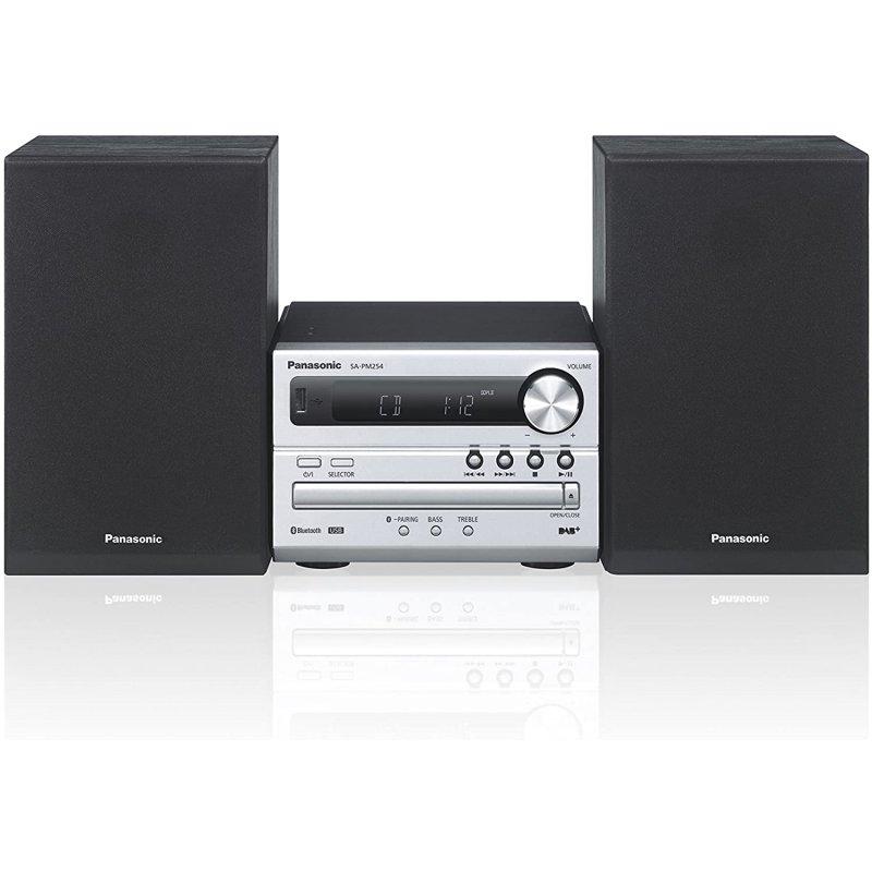 Panasonic SC-PM254EG-S Microcadena Bluetooth/CD/DAB+ 20W Plata