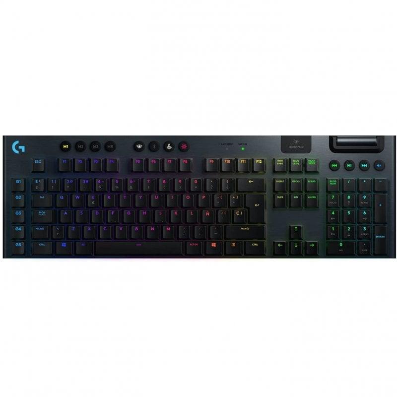 Logitech G915 Lightspeed Teclado Gaming Inalámbrico Clic Perceptible Negro USA