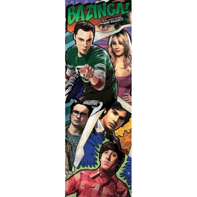 GB Eye Póster De Puerta The Big Bang Theory Comic 158x53cm