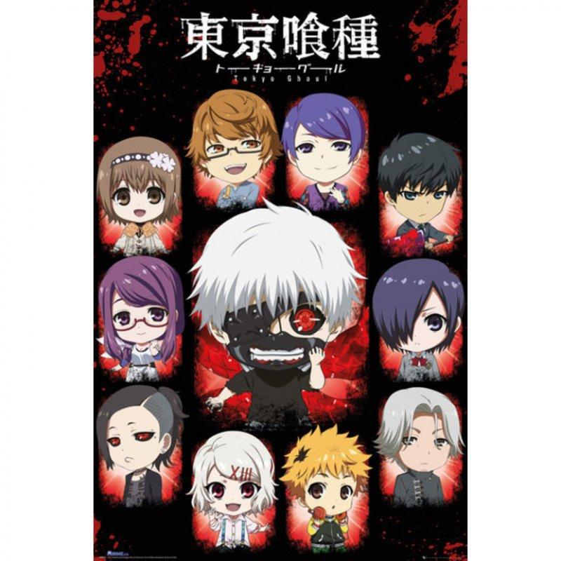 GB Eye Maxi Póster Tokyo Ghoul Chibi Personajes 91.5x61cm