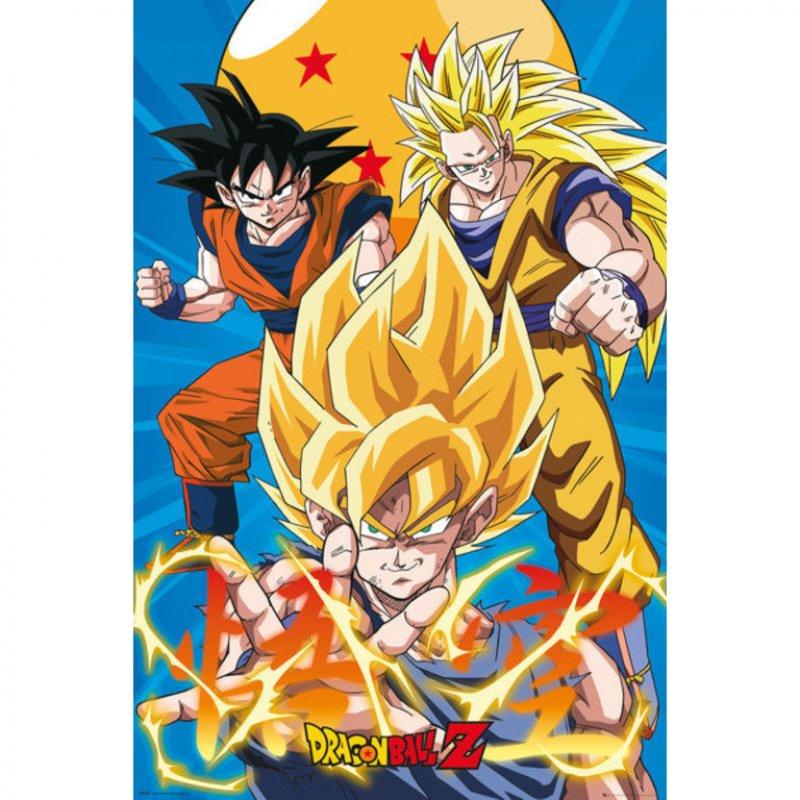 GB Eye Maxi Póster Dragon Ball Z 3 Goku Evoluciones 91.5x61cm