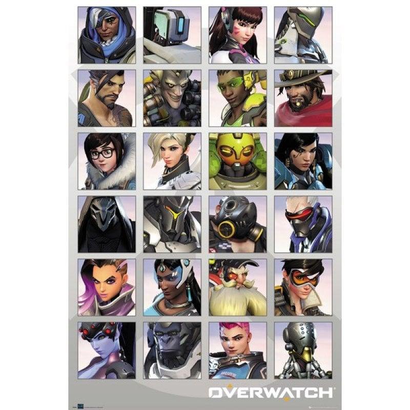 GB Eye Maxi Póster Overwatch Retratos Personajes 91.5x61cm