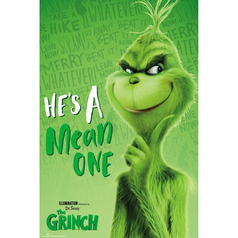 GB Eye Maxi Póster The Grinch He'S A Mean One 91.5x61cm