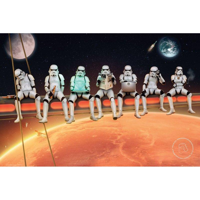 GB Eye Maxi Póster Star Wars Stormtrooper On Girders 91.5x61cm