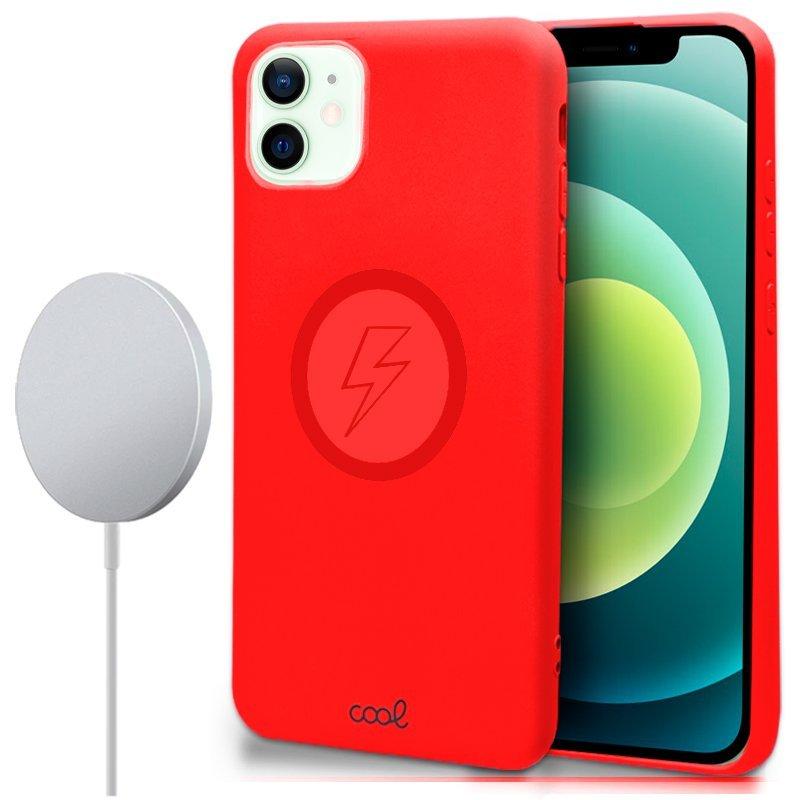 Cool Funda Cover Magnética Roja Para IPhone 12/12 Pro