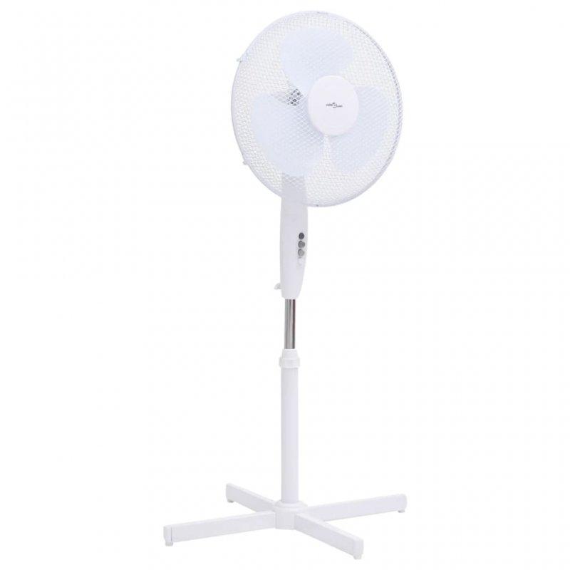 VidaXL Ventilador De Pie 45W Blanco