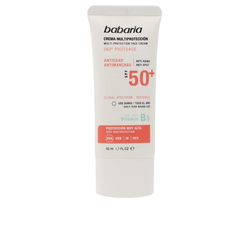 Babaria Solar Multiprotección Crema Antimanchas SPF50+ Facial 50ml