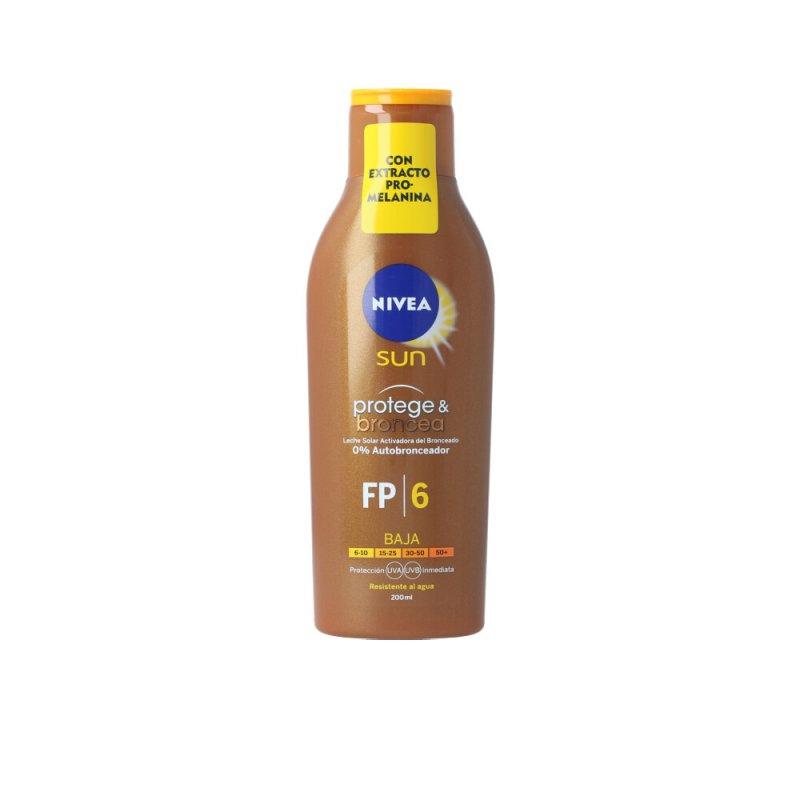Nivea Sun Protege & Broncea Leche SPF6 200ml
