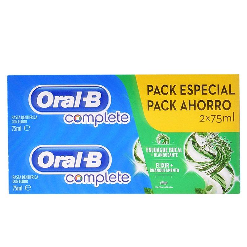 Oral-B Complete Dentifrico Enjuage + Blanqueante Lote 2 Unidades
