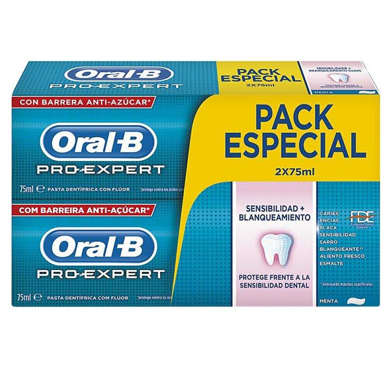 Oral-B Pro-Expert Sensibilidad&Blanqueante Dentifrico Pasta De Dientes 2 Unidades