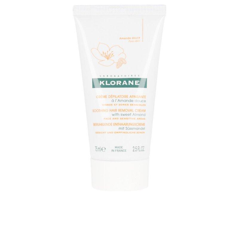 Klorane Soothing Hair Removal Cream With Sweet Almond Crema Depilatoria 75ml
