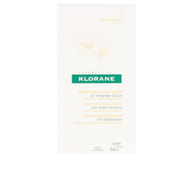 Klorane Cold Wax Small Strips With Sweet Almond Cera Depilatoria 6 Unidades