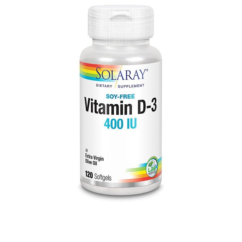 Solaray Vitamin D3 400 UI Complemento Vitamínico 120 Perlas