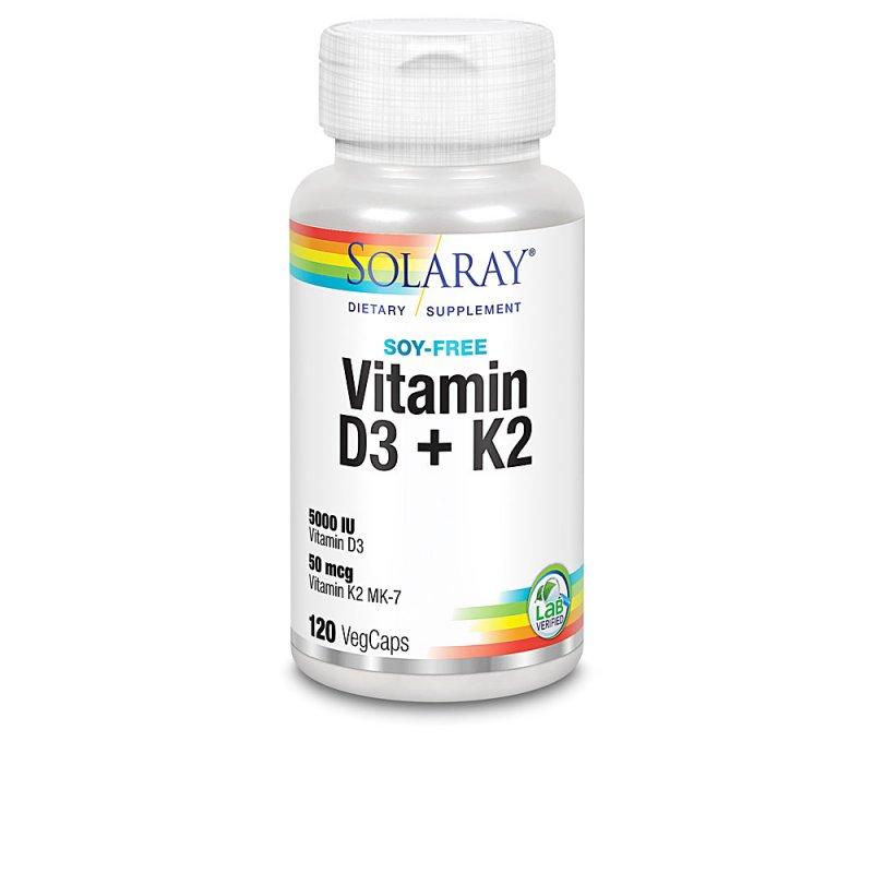 Solaray Big D3 & K2 Complemento Vitamínico 120 Cápsulas Vegetales