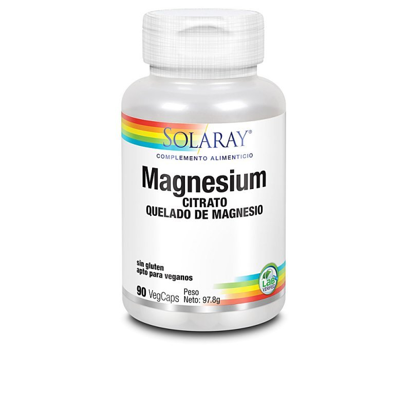 Solaray Magnesium Suplemento 90 Cápsulas Veganas