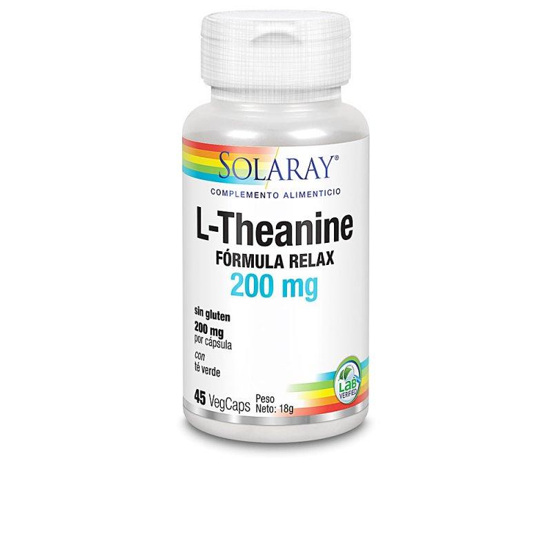 Solaray L-Theanine Aminoácidos Y Proteínas 45 Cápsulas Veganas De 200mg