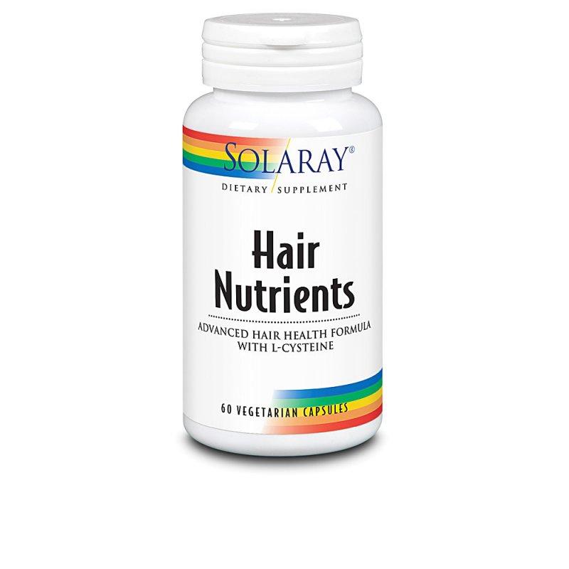 Solaray Hair Nutrients Suplemento 60 Cápsulas Vegetarianas